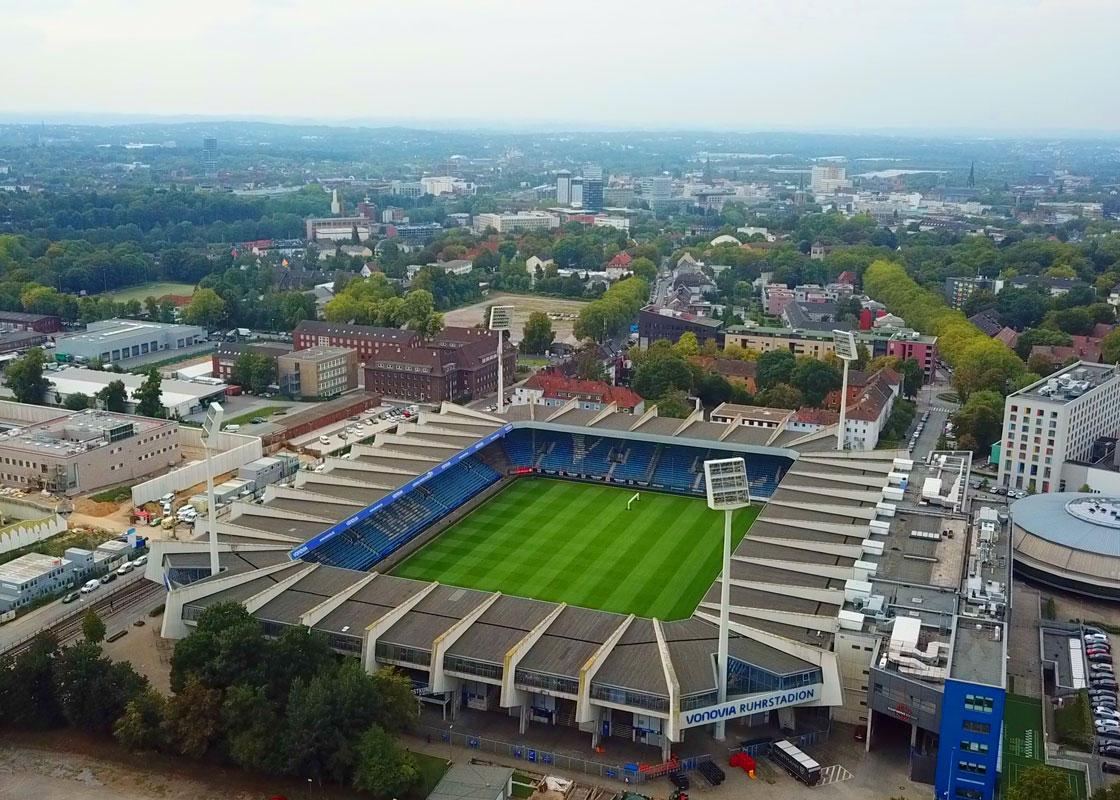 Das Vonovia Ruhrstadion bietet Platz für 27.599 Fans