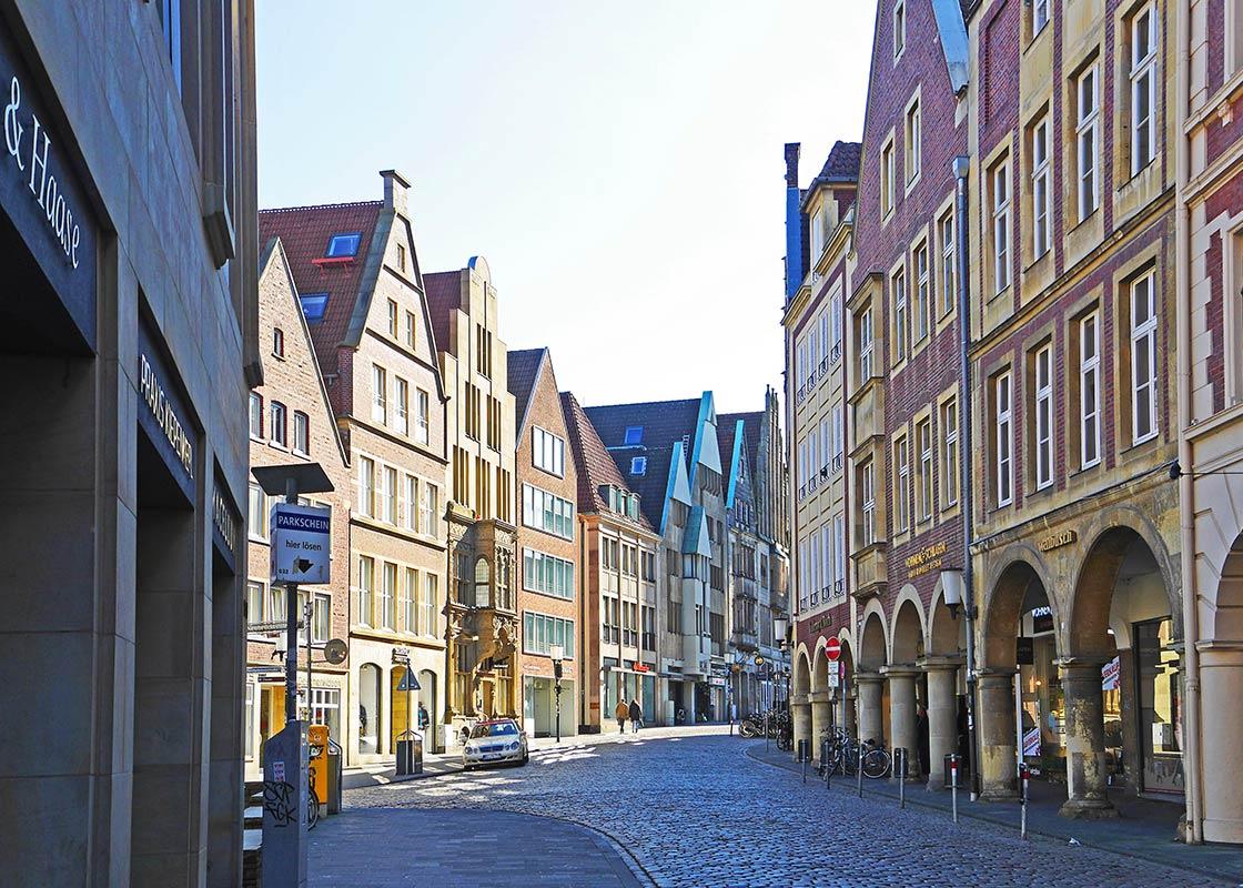Die Innenstadt von Münster