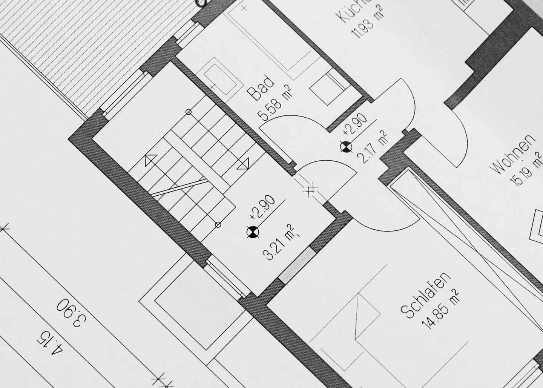 Grundriss für Wohnflächenberechnung