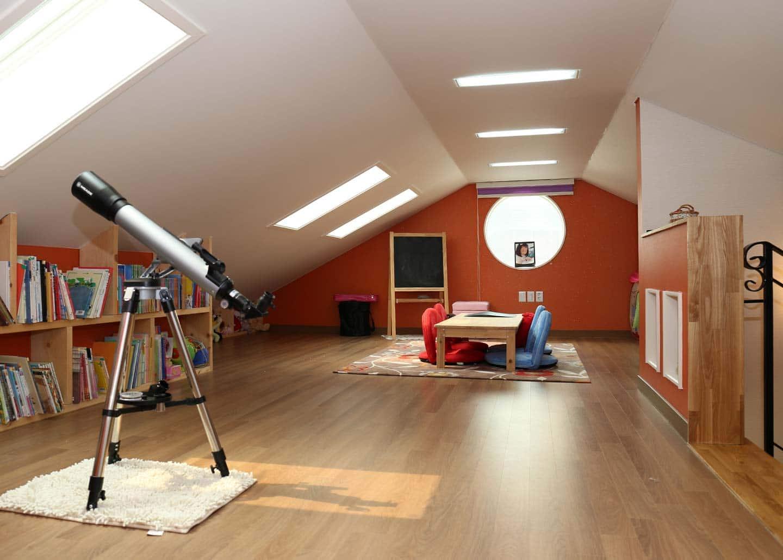 wohnraum schaffen durch Dachbodenausbau