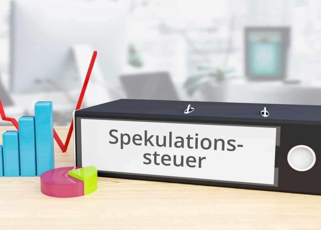 Ordner mit Spekulationssteuer