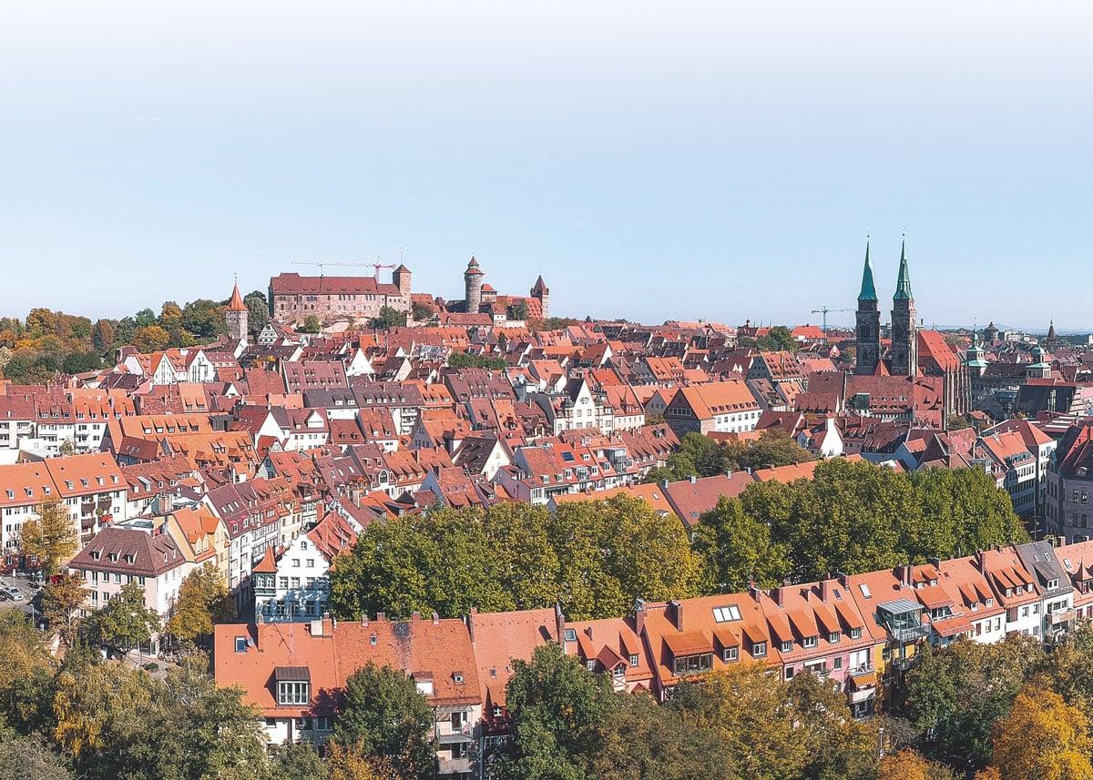 Nürnberg Ansicht Burg und Stadt